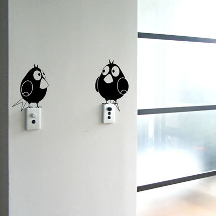 Modern Wall Decal Cartoon Birds